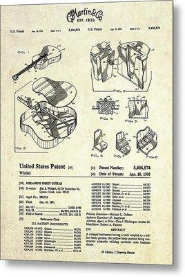 Martin Guitar Patent Art Metal Print by Gary Bodnar