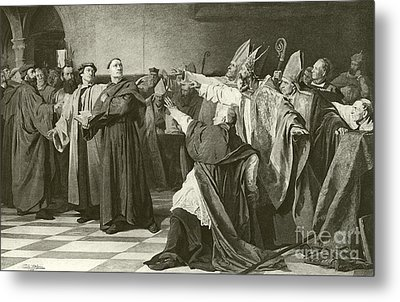 Martin Luther Before The Council Of Worms  Metal Print by English School