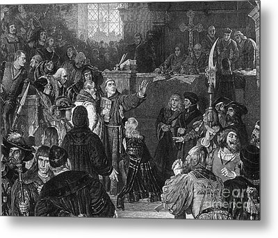 Martin Luther, Imperial Diet Of Worms Metal Print