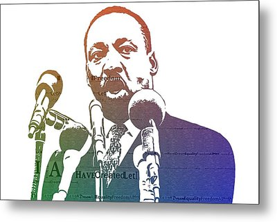 Martin Luther King Jr Metal Print by Dan Sproul