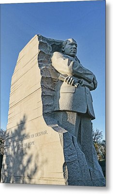 Martin Luther King Jr Memorial # 5 Metal Print by Allen Beatty