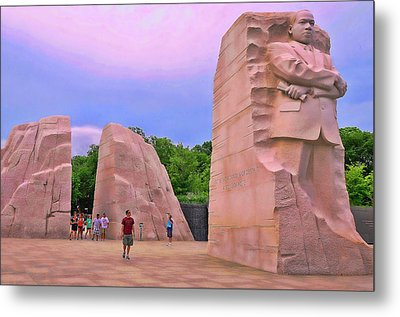Martin Luther King Jr Memorial # 6 Metal Print by Allen Beatty