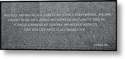 Martin Luther King Jr  Quote # 2 Metal Print by Allen Beatty