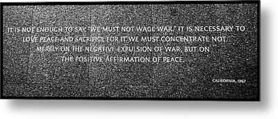 Martin Luther King Jr  Quote # 5 Metal Print by Allen Beatty