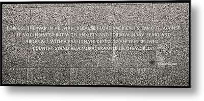 Martin Luther King Jr  Quote # 6 Metal Print by Allen Beatty