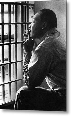 Martin Luther King, Jr, Sitting Metal Print