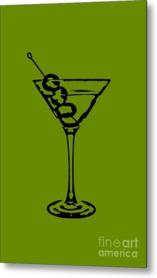 Martini Glass Tee Metal Print