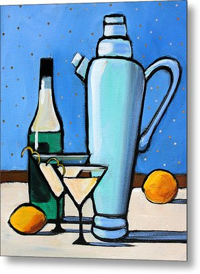 Martini Night Metal Print by Toni Grote