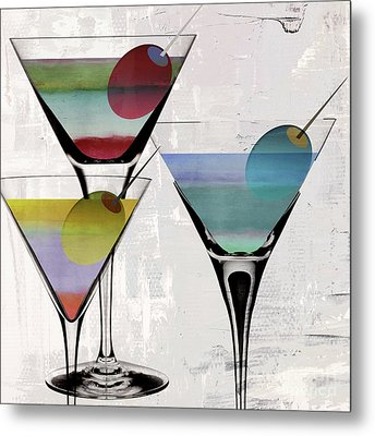 Martini Prism Metal Print by Mindy Sommers