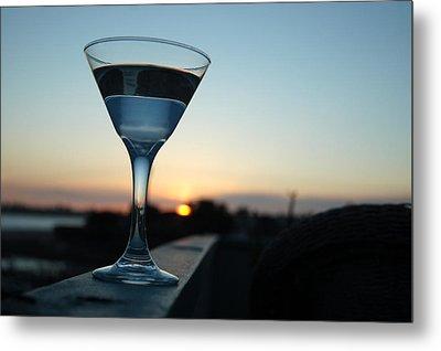 Martini Sunset Metal Print by John Finch
