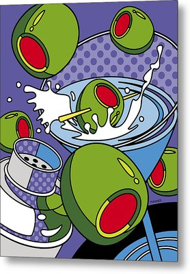 Martini Time Metal Print
