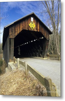 Martinsville Covered Bridge- Hartland Vermont Usa Metal Print by Erin Paul Donovan