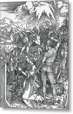 Martyrdom Of Saint Catherine Metal Print by Albrecht Durer