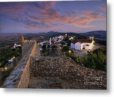 Marvao Dusk Metal Print