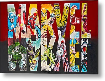 Marvel Hero's And Villain's  Metal Print by James Holko