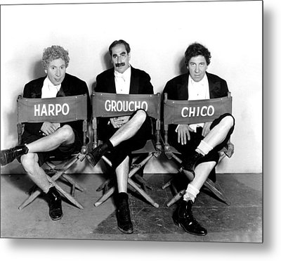 Marx Brothers - Harpo Marx, Groucho Metal Print by Everett