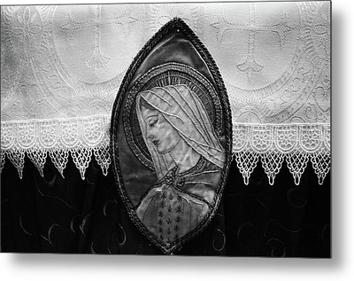 Metal Print featuring the photograph Mary Altar Cloth by Jeanette O'Toole