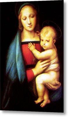Mary And Baby Jesus Metal Print by Munir Alawi
