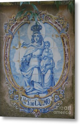 Mary And Jesus Metal Print