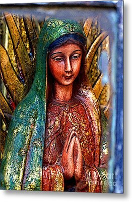 Mary In Repose Metal Print by Mexicolors Art Photography