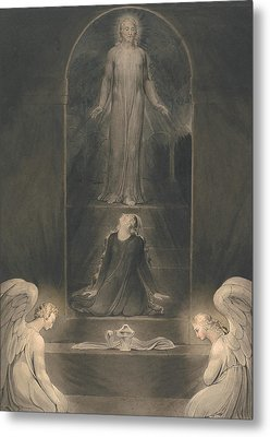 Mary Magdalen At The Sepulchre Metal Print