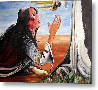 Metal Print featuring the painting Mary Magdalene by Mary Ellen Frazee