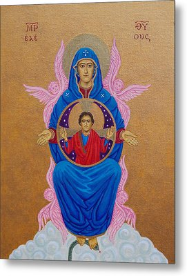 Mary Mother Of Mercy Icon - Jubilee Year Of Mercy Metal Print by Michele Myers