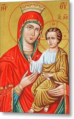Mary Of Jerusalem Metal Print by Munir Alawi