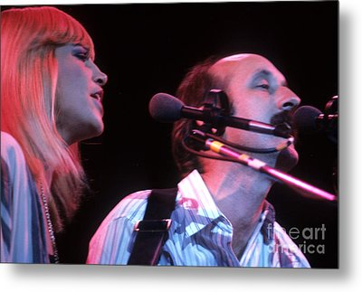 Mary Travers And Peter Yarrow Metal Print