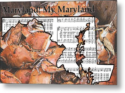 Maryland, My Maryland Metal Print
