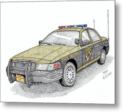 Maryland State Police Car Style 1 Metal Print by Calvert Koerber
