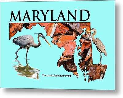 Maryland - The Land Of Pleasant Living Metal Print