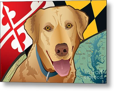 Maryland Yellow Lab Metal Print by Joe Barsin