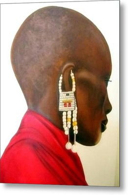 Masai Woman - Original Artwork Metal Print