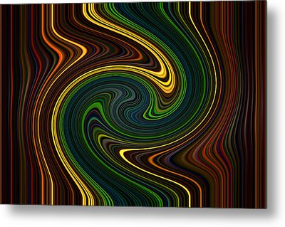 Masculine Waves Metal Print