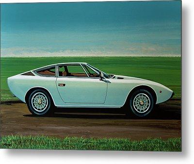 Maserati Khamsin 1974 Painting Metal Print by Paul Meijering