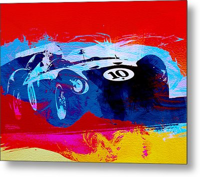 Maserati On The Race Track 1 Metal Print