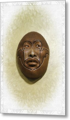 Mask 2 Metal Print