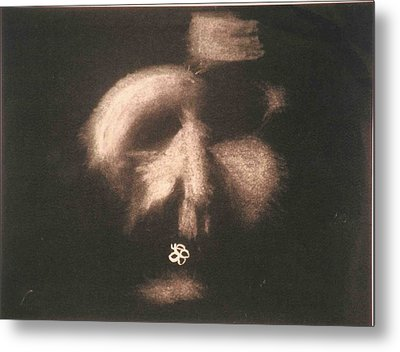 Mask Metal Print by AJ Brown