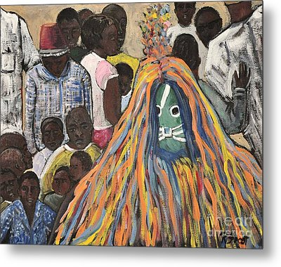 Mask Ceremony Burkina Faso Metal Print by Reb Frost
