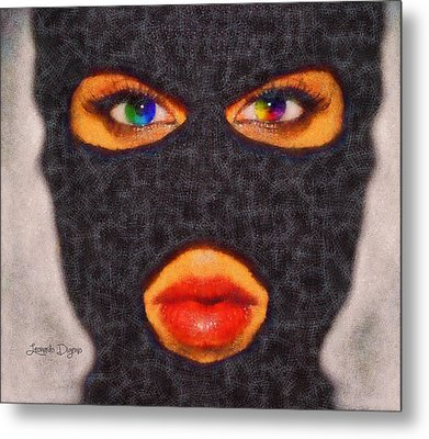 Mask - Da Metal Print by Leonardo Digenio