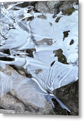 Metal Print featuring the photograph Ice Mask Abstract by Glenn Gordon