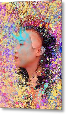 Mask Of Impressionism Metal Print by Matthew Lacey