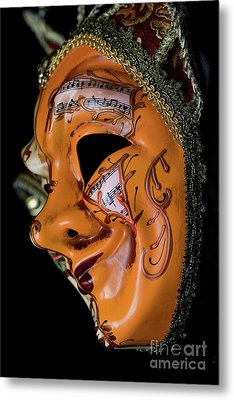 Mask Of Music Metal Print by Steve Purnell