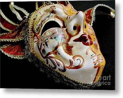 Mask Of Venice Metal Print by Steve Purnell
