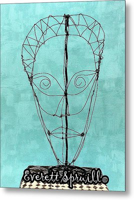 Mask Of Wire Metal Print