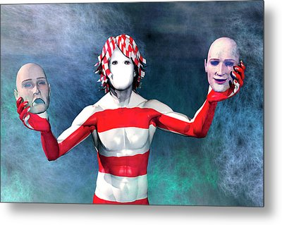 Masks Metal Print by Carol and Mike Werner