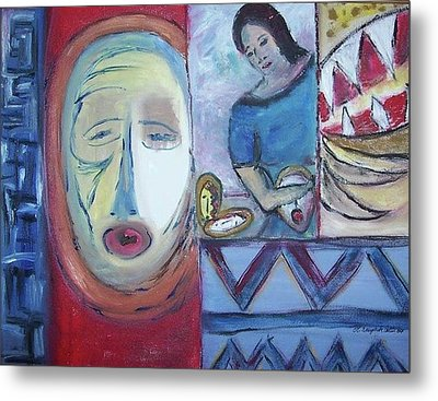 Masks Metal Print by Michel Croteau