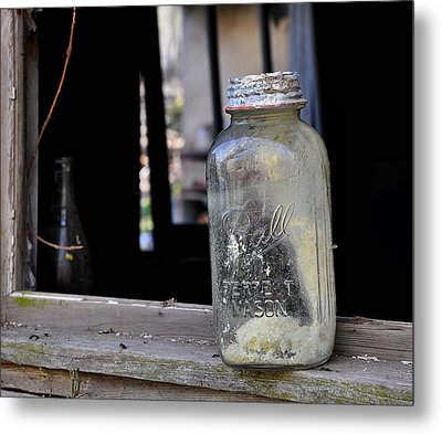 Mason Jar Metal Print by Todd Hostetter