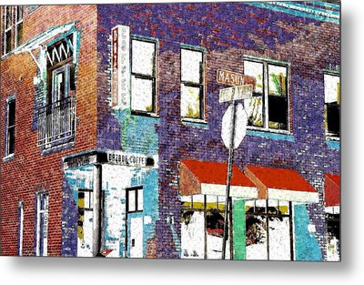 Mason Street And Cherry Metal Print by Jeff Gibford